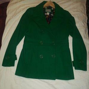 dELliA*s Womens Double Breasted Green Pea Coat